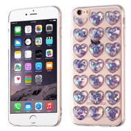 3D Heart Candy Case for iPhone 6 Plus / 6S Plus - Purple