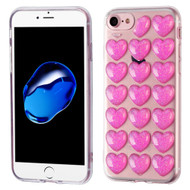3D Heart Candy Case for iPhone 8 / 7 - Hot Pink