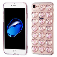 3D Heart Candy Case for iPhone 8 / 7 - Pink