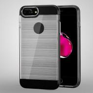 Flexsilk Bumper Frame Transparent Hybrid Case for iPhone 8 Plus / 7 Plus / 6S Plus / 6 Plus - Black