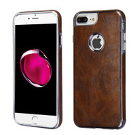 Luxury Leather Fusion Case for iPhone 8 Plus / 7 Plus / 6S Plus / 6 Plus - Brown