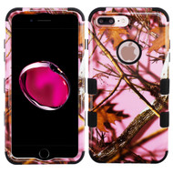 Military Grade Certified TUFF Image Hybrid Armor Case for iPhone 8 Plus / 7 Plus - Pink Oak Hunting Camouflage