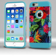 Military Grade Certified TUFF Trooper Dual Layer Hybrid Case for iPhone 6 / 6S - Electric Hibiscus