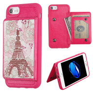 Pocket Wallet Case with Stand for iPhone 8 / 7 / 6S / 6 - Eiffel Tower