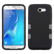 Military Grade Certified TUFF Hybrid Armor Case for Samsung Galaxy J7 (2017) / J7 V / J7 Perx - Black Grey