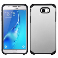 Hybrid Multi-Layer Armor Case for Samsung Galaxy J7 (2017) / J7 V / J7 Perx - Silver