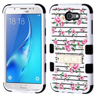 Military Grade Certified TUFF Hybrid Armor Case with Stand for Samsung Galaxy J7 (2017) / J7 V / J7 Perx - Fresh Roses