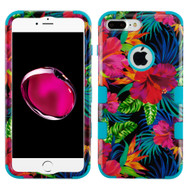 Military Grade Certified TUFF Image Hybrid Armor Case for iPhone 8 Plus / 7 Plus - Electric Hibiscus