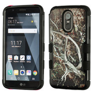 Military Grade Certified TUFF Image Hybrid Armor Case for LG Stylo 3 / Stylo 3 Plus - Tree Camouflage