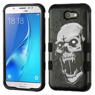 Military Grade Certified TUFF Image Hybrid Armor Case for Samsung Galaxy J7 (2017) / J7 V / J7 Perx - Vampire