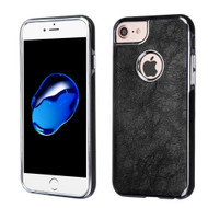 Luxury Leather Fusion Case for iPhone 8 / 7 / 6S / 6 - Black