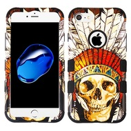 Military Grade Certified TUFF Image Hybrid Armor Case for iPhone 8 / 7 - Dead Chief Skull