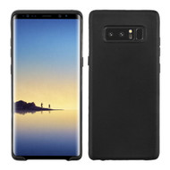 Rubberized Crystal TPU Case for Samsung Galaxy Note 8 - Black
