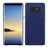 Rubberized Crystal TPU Case for Samsung Galaxy Note 8 - Navy Blue