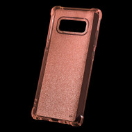 Premium Sparkling Sheer Glitter Candy Skin Cover for Samsung Galaxy Note 8 - Rose Gold