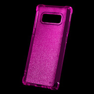 Premium Sparkling Sheer Glitter Candy Skin Cover for Samsung Galaxy Note 8 - Hot Pink