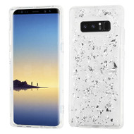 Krystal Gel Series Flakes Transparent TPU Case for Samsung Galaxy Note 8 - Silver