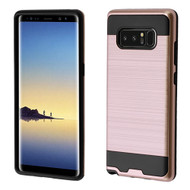 Brushed Hybrid Armor Case for Samsung Galaxy Note 8 - Rose Gold