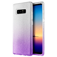 Full Glitter Hybrid Protective Case for Samsung Galaxy Note 8 - Gradient Purple