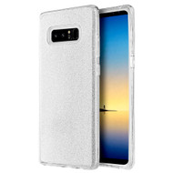 Full Glitter Hybrid Protective Case for Samsung Galaxy Note 8 - Silver