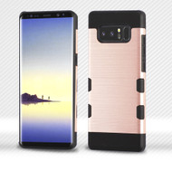 Military Grade Certified TUFF Trooper Dual Layer Hybrid Armor Case for Samsung Galaxy Note 8 - Rose Gold