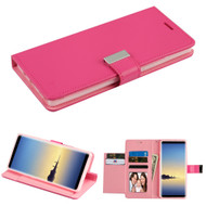 Essential Leather Wallet Stand Case for Samsung Galaxy Note 8 - Hot Pink