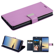 Essential Leather Wallet Stand Case for Samsung Galaxy Note 8 - Purple