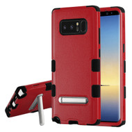 Military Grade Certified TUFF Hybrid Armor Case with Stand for Samsung Galaxy Note 8 - Red
