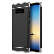 GripTech 3-Piece Chrome Frame Case for Samsung Galaxy Note 8 - Black