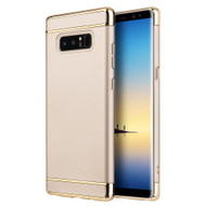 GripTech 3-Piece Chrome Frame Case for Samsung Galaxy Note 8 - Gold