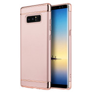 GripTech 3-Piece Chrome Frame Case for Samsung Galaxy Note 8 - Rose Gold