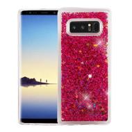 *Sale* Quicksand Glitter Transparent Case for Samsung Galaxy Note 8 - Hot Pink