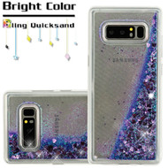 Quicksand Glitter Transparent Case for Samsung Galaxy Note 8 - Purple