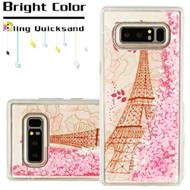 Quicksand Glitter Transparent Case for Samsung Galaxy Note 8 - Eiffel Tower