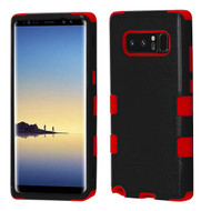 Military Grade Certified TUFF Hybrid Armor Case for Samsung Galaxy Note 8 - Black Red