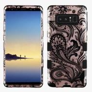 Military Grade Certified TUFF Image Hybrid Armor Case for Samsung Galaxy Note 8 - Phoenix Flower Rose Gold