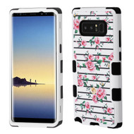 Military Grade Certified TUFF Image Hybrid Armor Case for Samsung Galaxy Note 8 - Pink Fresh Roses