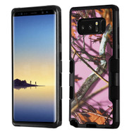 Military Grade Certified TUFF Image Hybrid Armor Case for Samsung Galaxy Note 8 - Pink Oak Hunting Camouflage