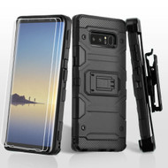 Military Grade Certified Storm Tank Hybrid Case with Holster and Screen Protector for Samsung Galaxy Note 8 - Black