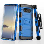 Military Grade Certified Storm Tank Hybrid Case with Holster and Screen Protector for Samsung Galaxy Note 8 - Blue