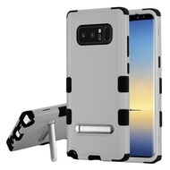 Military Grade Certified TUFF Hybrid Armor Case with Stand for Samsung Galaxy Note 8 - Grey
