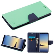 Diary Leather Wallet Case for Samsung Galaxy Note 8 - Teal Green