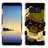 Military Grade Certified TUFF Image Hybrid Armor Case for Samsung Galaxy Note 8 - Cannabis Skull
