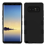 Military Grade TUFF Hybrid Armor Case for Samsung Galaxy Note 8 - Black