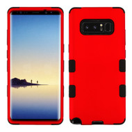 Military Grade TUFF Hybrid Armor Case for Samsung Galaxy Note 8 - Red