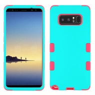 Military Grade TUFF Hybrid Armor Case for Samsung Galaxy Note 8 - Teal Green Hot Pink
