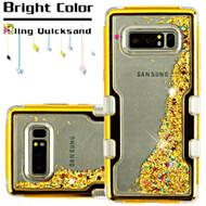 TUFF Quicksand Glitter Hybrid Armor Case for Samsung Galaxy Note 8 - Gold