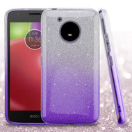 Full Glitter Hybrid Protective Case for Motorola Moto E4 - Gradient Purple