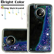 Quicksand Glitter Transparent Case for Motorola Moto E4 - Purple