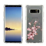 Klarity Premium Transparent Anti-Shock TPU Case for Samsung Galaxy Note 8 - Spring Flowers